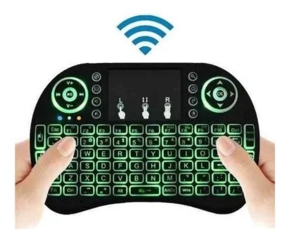 Teclado Luminoso Sem Fio Mini Keyboard