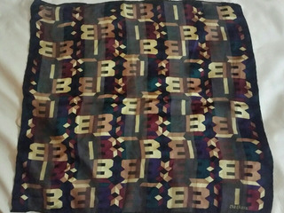Bufanda Bill Blass Pañuelo 100% Seda Original
