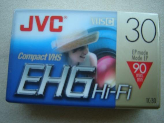 Fita Jvc Compact Vhs-c Tc-30 Ehg Hi-fi Original Nova Lacrada