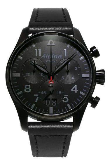 Relógio Masculino Alpina Al-372bb4fbs6 Couro