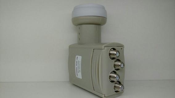 * 4 Uni Lnb Original Sharp 4 Saidas Sn:004520 Universal Ku