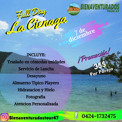 Full Day La Ciénaga, Morrocoy, Isla Larga Y Cucuta