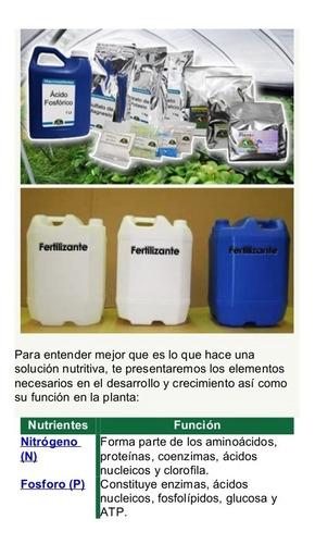 Solucion Nutrientes HidroponiaRinde 200 Lts.