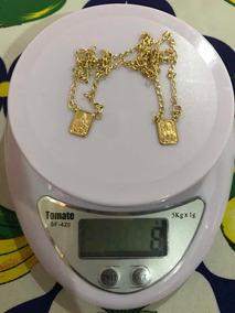 Escapulário De Ouro 18k 66,5cm Com 8grs