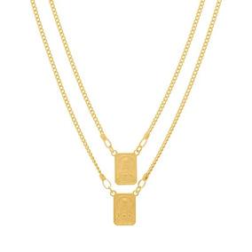 530768 Escapulario Rommanel Medalhas Folheado Ouro Unissex