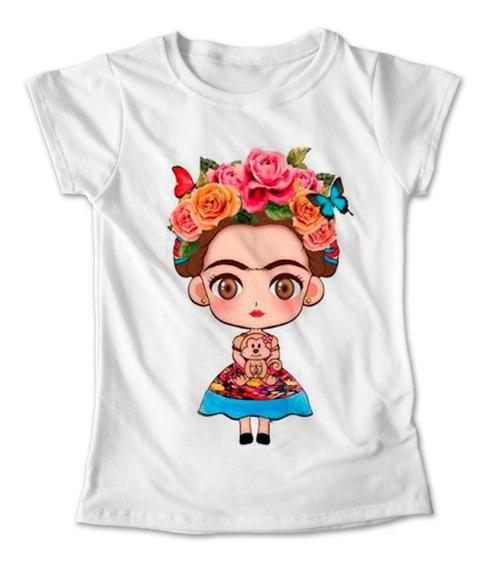 Blusa Frida Kahlo Colores Playera Estampado Vestido 021