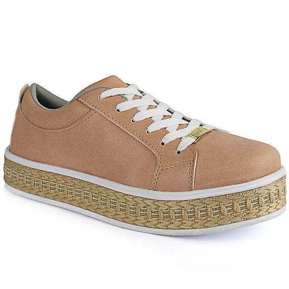 Tênis Plataforma Flatform Cr Shoe Feminino 4034 Preto Verniz