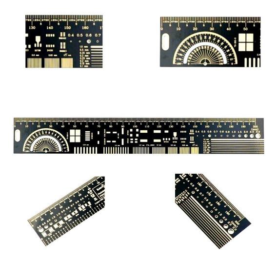 Regla Pcb Ingeniería Electronica 20cm Transportador