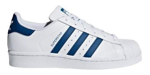 Zapatillas adidas Superstar Bla/azu Unisex De Niños