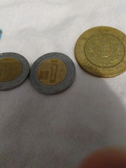 2 Monedas De Nuevo Peso De 1995 ,1 De $10 Extrañas
