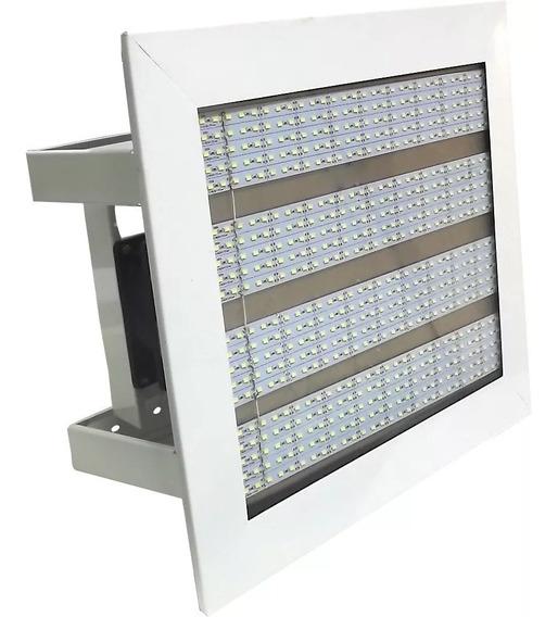 10 Luminárias Led / Galpões 160w + 4 Refletor De 50w