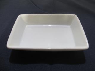 30 Platos Salsero Rectangular De Porcelana Bii 15 Cm X 10 Cm