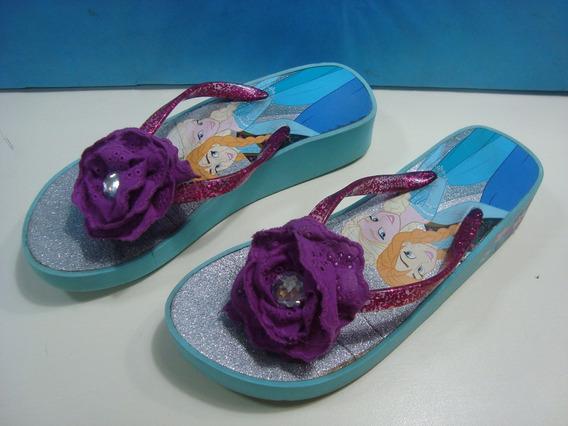 Sandalias Ojota Plataforma Nena Frozen Original Disney Store