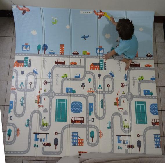 Tapete Infantil 2x1,80m Emborrachado Dobrável Bb Engatinhar