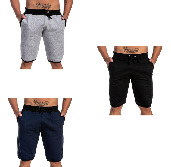 Short Praia Masculino Casual Kit Com 3 Lançamento Imperdivel