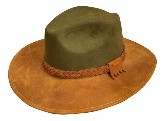 Sombrero De Piel Con Gamuzina
