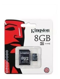 Cartão Memória Kingston C/ Nota Fiscal Micro Sd 8gb Original