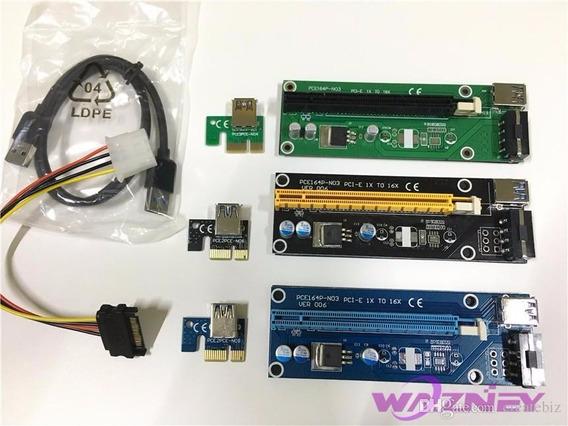 Pci-e 1x A 16x Riser Card Usb 3.0 Bitcoin Ethereum Mineração