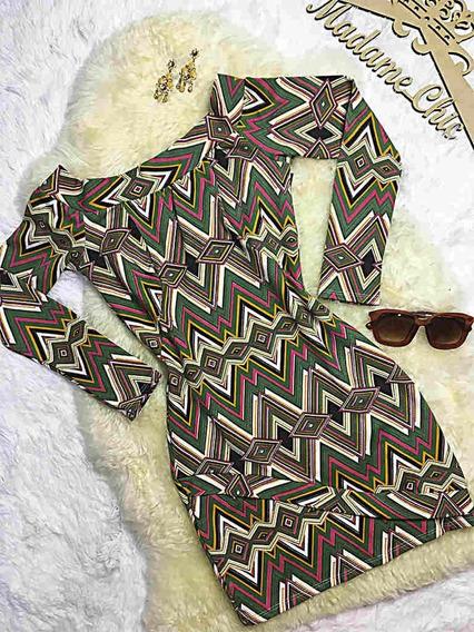 Vestido Casual Chique Tubinho Roupas Femininas