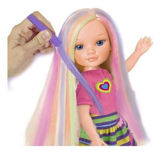 Muñeca Nancy Un Dia Haciendo Pintando Mechas, Con Accesorios
