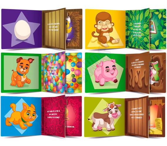 Livro Infantil Animais Interativos Abas Divertidas 6 Volumes