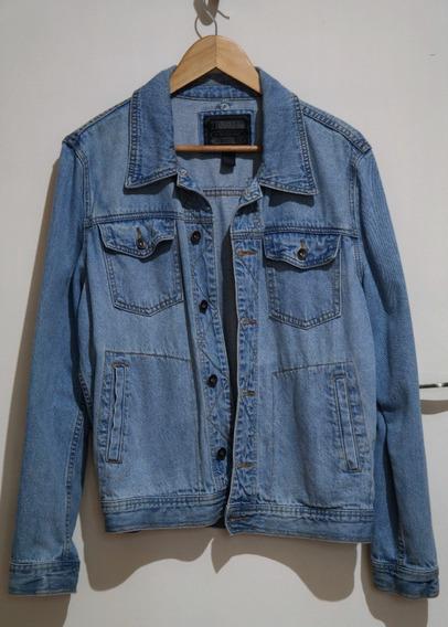 Jaqueta Jeans Masculina Azul Vintage