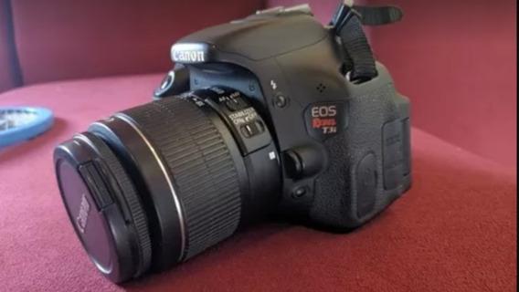 Camera Canon T3i Com Lente 18-55mm Full Hd