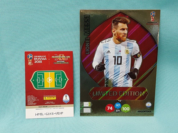 Cards Xxl Copa 2018 Limited Edition Lionel Messi Argentina