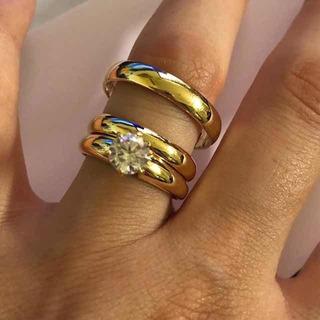 Trío De Bodas Oro 14k Y Piedras Circonias