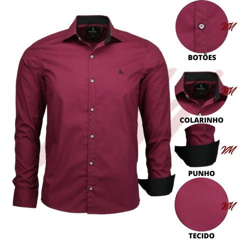Camisa Social Masculina Luxo Algodão Ideal Para Festas 1567