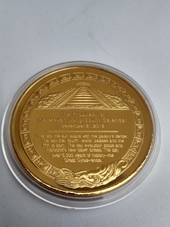 Moneda Calendario Maya Profecia Piramide Leyenda En Ingles