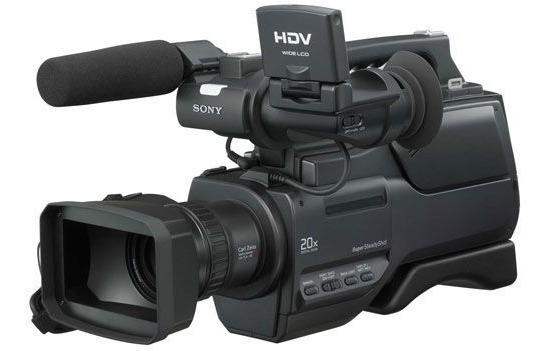 Filmadora Profissional Hvr-hd1000 + Iluminador 300 Leds