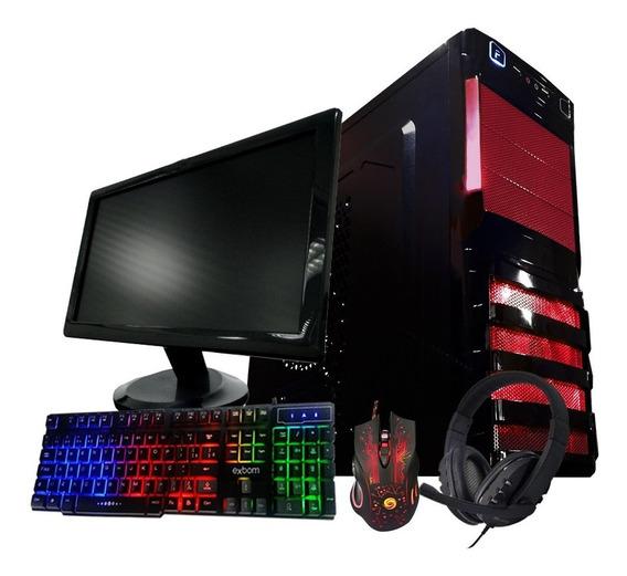 Pc Gamer Completo Barato - 4gb - Tela 19 - Wifi