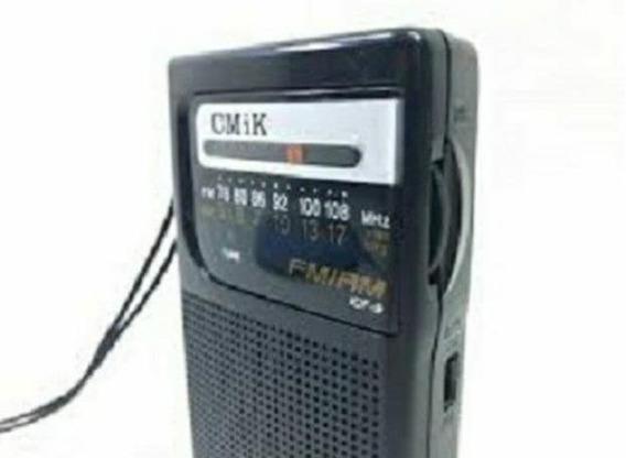 6 Rádio Portátil Am/fm Original