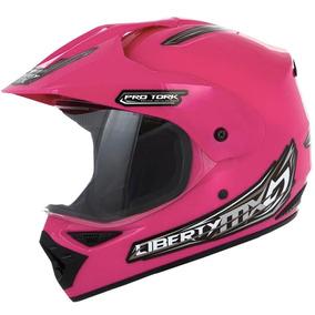 Capacete Moto Pro Tork Liberty Mx Pro Vision 60 Rosa