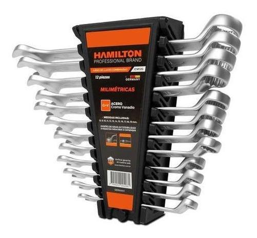 Juego Set Llaves Combinadas 8 A 19mm Hamilton Alemania