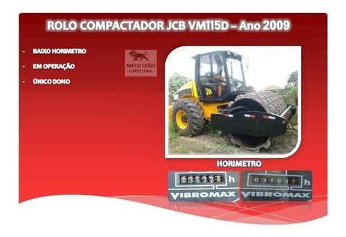 Imagem 1 de 1 de Rolo Compactador Jcb Vm 115d - Ano 2009