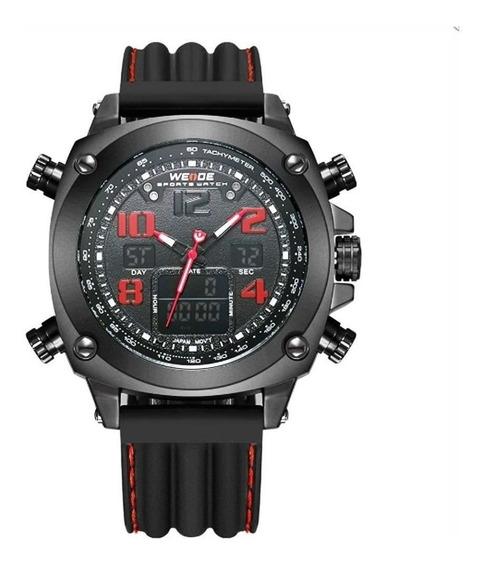 Relógio Analogico Digital Masculino Weide Wh-5208 Preto