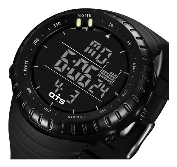 Relógio Digital Militar Ots Esportivo Masculino Preto 50m