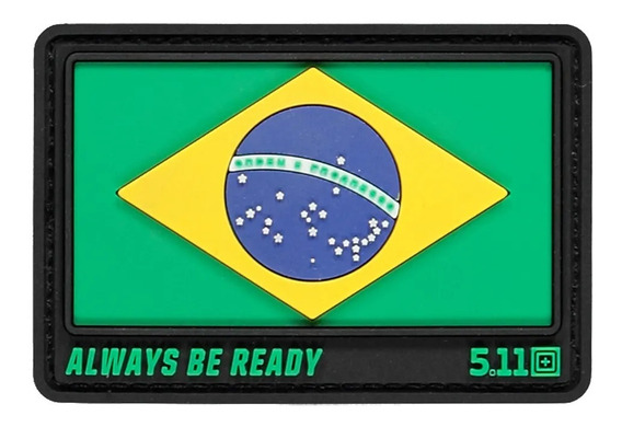 Patch 5.11 Bandeira Brasil Safe Always Be Ready