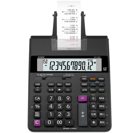 Calculadora Com Bobina Hr-150 Rc Bivolt Casio Original
