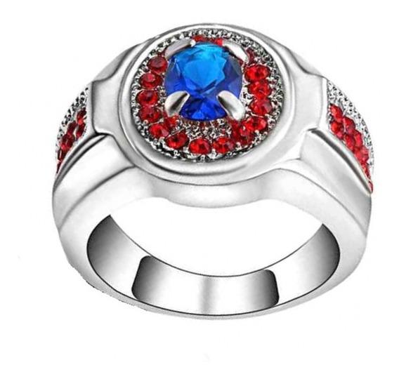 Anel Formatura Safira Pedra Azul Curso Engenharia 521