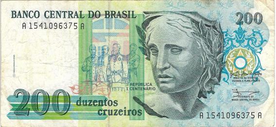 Cédula 200 Cruzeiros Mbc