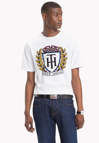 Th Crest Fashion Fit Tee - Tommy Jeans - 1188614 - Blanco