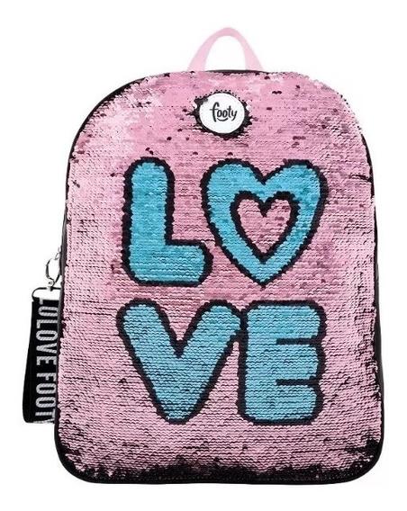 Mochila Fashion Love C/ Lentej. Reversibles 14