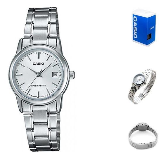 Reloj Casio Quartz Ltpv002 Mujer Acero *watchsalas*