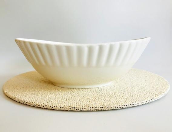 Fuente Lineas Porcelana Chica
