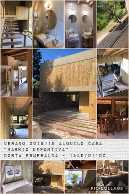 Costa Esmeralda Alquiler 2019. Barrio Deportiva