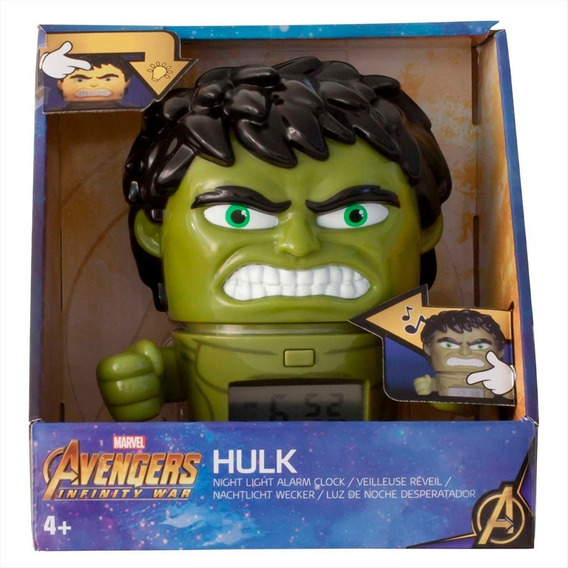 Reloj Despertador Avengers Infinity Wars Hulk