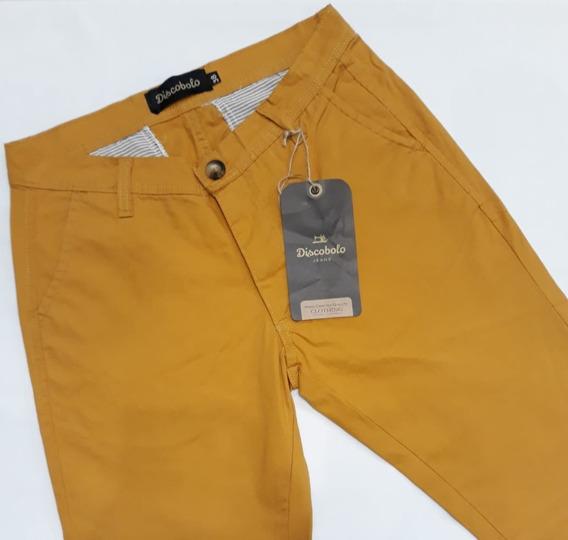 Pantalones Hombre Gabardina Corte Chino Colores - Discobolo